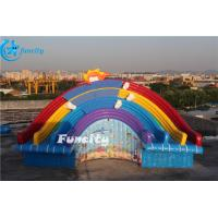 Quality 11x6x6m Inflatable Rainbow Slide for Water Park Equipment Use for sale