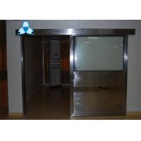 Anti - Radiation Automatic Hospital Doors With Sliding Single Leaf , Easy Clean And Antibiosis Manufactures