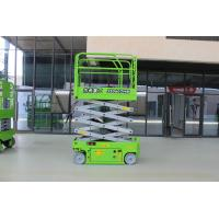 Light Green Self Propelled Scissor Lift Working Height 18m Diesel Engine Manufactures