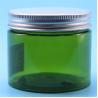 Green PET Plastic Jars , Plastic Cream Jar Including Nature Aluminum Cap Manufactures