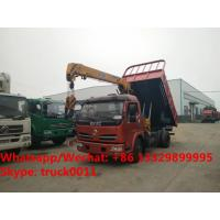 Buy cheap Customized dongfeng 4*2 dump truck with 2tons telescopic boom for Philippines, from wholesalers