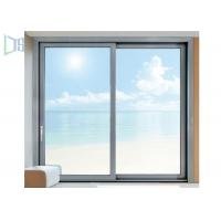 Triple Track Aluminum Sliding Windows Residential Single / Double Glazed Glass Manufactures
