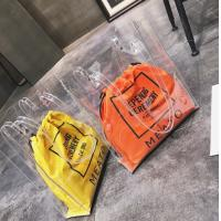 Summer Large Plastic PVC Clear Tote Bag Customized Color With Inner Drawstring Manufactures