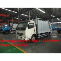 HOT SALE! 2018s best seller-dongfeng 4*2 LHD 7m3 compression garbage compactor truck, garbage truck for Mongolia Manufactures