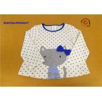 100% Cotton Baby Long Sleeve Tops , Kids Plain T Shirts For Fall / Winter Manufactures