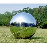 Popular Sliver Inflatable Mirror Ball Party USE , Double quadruple stitches Manufactures