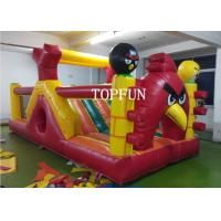 OEM 0.55 mm PVC Tarpaulin Inflatable Angry Bird Bouncy Castle Strong Sewing Manufactures
