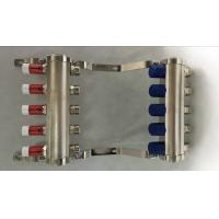 Short Flow Meter Brass Water Manifold For Pex Heating Systems Manufactures