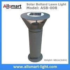 Aluminum H60cm Solar  Bollard LED Lighting Parking-Lot Bicycle Path Solar Garden Lawn Lights Solar Sensor Lights Manufactures