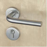 Silver SUS304 Stainless Steel Escutcheon Lock Fire Proof For Residential Manufactures