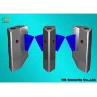 Security Outdoor Flap Turnstile Turnstile Entry Systems For Subway , Office Building Manufactures