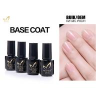 No Smell No Toxic Free Samples High Glossy Transparet Soak Off UV Gel Base Coat Manufactures