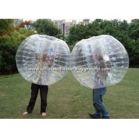 Transparent Adults Inflatable Bubble Ball , Bubble Zorb Football For Outdoor Sports Manufactures