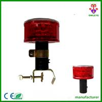 Auto Light Control Red Flashing Solar LED Traffic Warning Light Manufactures