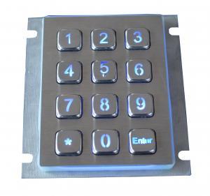 Dustproof Weatherproof Metal Keypad 12 Keys Access Control With 2.0mm Long Stroke Manufactures
