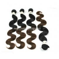 Two Tone Wholesale Price Virgin Chinese Human Hair Weft Manufactures