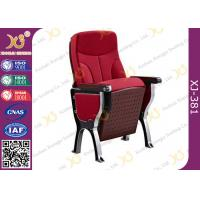 Buy cheap Fabric/Leather Auditorium Furniture Church Hall Chairs With Damper Mechanism from wholesalers