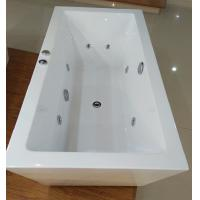 Quality 1600mm Indoor Contemporary White Soaking Freestanding Bath Tub / Indoor Jacuzzi Hot Tubs for sale