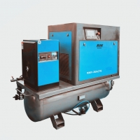 China 1m3/min 8bar all in one screw air compressor for sand blasting machine on sale