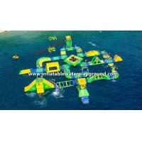 36 mL * 40 mW Large Inflatable Backyard Water Park / Floating Island Inflatable Toys Manufactures