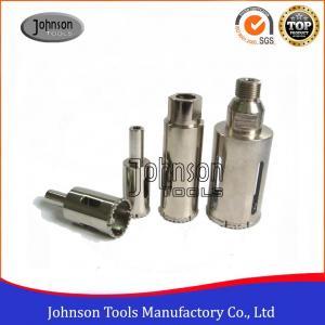 10 - 100 mm Diamond Core Drill Bits for Porcelain ,  Vacuum Brazed Diamond Core Bits Manufactures