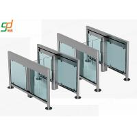 SS304 Automatic Turnstiles ,  Intelligent Supermarket Swing Barrier Manufactures