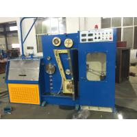 14DT Blue Fine Wire Drawing Machine With Continuous Annealing Small Slip Rate Manufactures