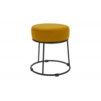 Buy cheap Steel And Fabric Combination Stackable Nordic Bar Stools 40cm Tall from wholesalers