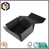Magnetic Closure Collapsible Paper Gift Packaging Box; Black Color Cosmetics Box Manufactures