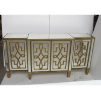 Unique Design Living Room Mirrored Side Board Gold Color Surface Finish Manufactures