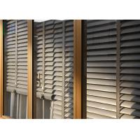 Powder Coating Glass Louvre Windows , Optional Color Exterior Window Shutters Manufactures