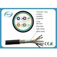 China Dual Layer Jacket Cat6 LAN Cable Outdoor FTP Al Foil Shielded PVC PE Material on sale