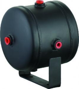 Black Steel Horizontal Air Comressor Tank For Air Horn Tires , 0.5 Gallon air tank Manufactures
