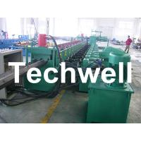7 Rollers Leveling 10 - 12m/min W Beam Roll Forming Machine for Crash Barrier Manufactures