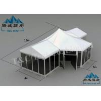 Galvanized Transparent Hotel Bell Tent With Size Soft PVC Walls / Glass Walls Manufactures
