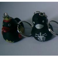 Quality Vampire Halloween Rubber Mini Duck Keychain Bloodsucker Design Promotional Gift for sale