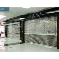 3m Height 9mm Tube Roll Up Clear Roller Shutters Manufactures