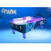 Curved Coin Operated Air Hockey Table With Fiber Glass And Plastic Cement Material Manufactures