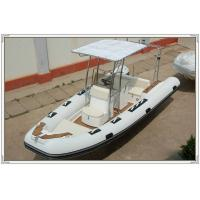 Comfortable White color Towable Inflatable River Boats RHIB Boat 5.8m length RIB580A Manufactures