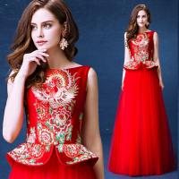 Chinese Traditional Bride Toast Set Dress Invisible Zipper Back Evening Dress TSJY140 Manufactures
