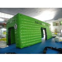 Green Square Inflatable Event Tent with 0.6mm - 0.9mm PVC Tarpaulin , Waterproof and Fire Resistant Manufactures