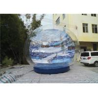 Winter Wonderland 0.9mm PVC Tarpaulin  Giant Inflatable Snow Globe Show Ball Manufactures
