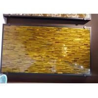 Yellow Tiger Eye Semi Precious Stone Slabs Gemstone With Luxury Appearance Manufactures