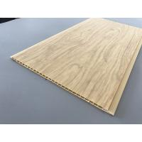 7.5mm Thick Corrosion Resistant PVC Wood Panels As Ceiling And Wall Cladding