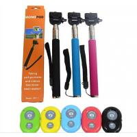 Z07-1 Wireless Bluetooth selfie stick clip Monopod Shutter Release cable take pole Manufactures