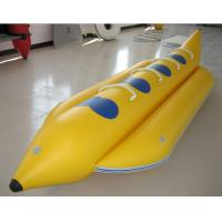 0.9mm PVC Inflatable Banana Boat Four Person Inflatable Boat For Lake Manufactures