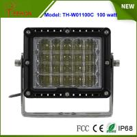 """8"""" 100W LED Work Light Spot or flood Beam for Heavy Duty Driving Light for jeep,truck,suv Manufactures"""