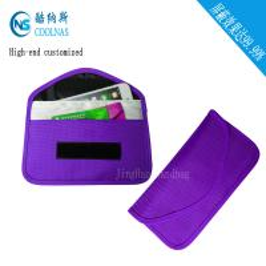 Anti Radiation Purple RFID Travel Bags / Womens Rfid Wallet 19.5*9 Cm Manufactures
