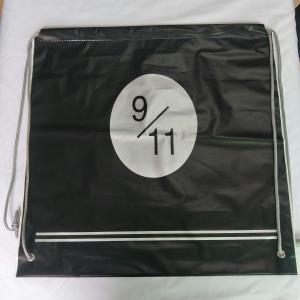 Transparent Rope Bag Rucksack , Black Outdoor Clear Plastic Drawstring Bags Manufactures