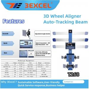 Turntables Auto Trucking Beam T268 3d Wheel Alignment Manufactures